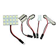 Недорогие -2x белый 15smd 5050 Межкомнатные купол карту свет + гирлянда T10 BA9S BA15s адаптер