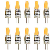 cheap -10pcs 2W 200-250lm G4 LED Bi-pin Lights T 1 LED Beads COB Decorative Warm White Cold White 12V