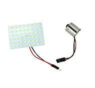 2 X White 48-SMD Panel Dome Map Interior RV LED Light Bulbs+ BA15S 1156 Adapter