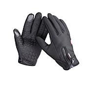 Недорогие -Перчатки для велосипедистов Лыжные перчатки Муж. Полный палец Сохраняет тепло Анти-скольжение холст руно Катание на лыжах