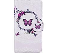 Недорогие -Кейс для Назначение Apple iPhone 6 iPhone 6 Plus Бумажник для карт Кошелек со стендом Флип Чехол Бабочка Мягкий Кожа PU для iPhone 6s