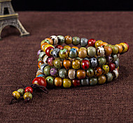 cheap -Men's Women's Strand Bracelet - Multi Layer Fashion Beaded Circle Brown Bracelet For Daily Casual