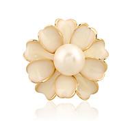 женская имитация жемчужина цветок камелии золото посеребренные ежедневно / вскользь броши булавки шали шарфы шарф пряжки кольцо