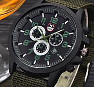 Men Quartz Watch Sport Military Watches Men Corium Canvas Strap Army Wristwatch Clock Complete Calendar reloj mujer