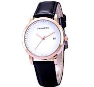 cheap -REBIRTH® Women's Simple Fashion Date Display PU Leather Strap Quartz Wrist Watch Casual Watch Dress Watch