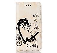 Недорогие -Кейс для Назначение Apple iPhone 6 iPhone 7 Plus iPhone 7 Бумажник для карт Кошелек со стендом Флип Чехол С сердцем Твердый Кожа PU для