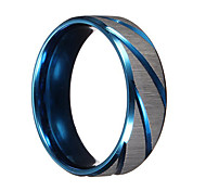 cheap -Men's Band Ring - Personalized Vintage Party Work Casual Fashion Durable Punk Blue Ring For Christmas Gifts Wedding Party Daily Casual