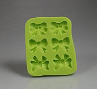 baratos -Arcos verdes doces de chocolate forma 3d molde de fondant de silicone decoração ferramentas de cozimento acessórios de cozinha cor aleatória