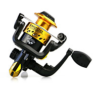 cheap -Fishing Reel Spinning Reel 5.1:1 Gear Ratio+3 Ball Bearings Hand Orientation Exchangable Bait Casting Ice Fishing Spinning Freshwater