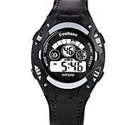 Недорогие -Мужской / Дети Модные часы Цифровой / силиконовый Группа Повседневная Черный марка