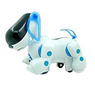 машина собака загораться пластик белый / синий музыка игрушка для детей