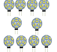 1.5W G4 LED Bi-pin Lights T 9 SMD 5730 150-200 lm Warm White Cold White 3000/6000 K Decorative DC 12 V 10pcs