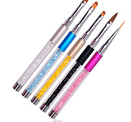 cheap -New 1pcs Professional Nail Art Design Brush Pen Drawing Lines Painting Carving Gradient UV Gel Salon Beauty Nail Tools