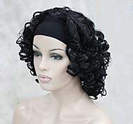 Недорогие -Парики из искусственных волос Кудрявый плотность Без шапочки-основы Жен. Карнавальный парик Парик для Хэллоуина Средние Искусственные