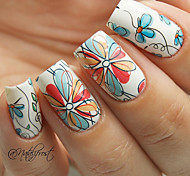 cheap -2 Patterns/Sheet Cute Flower Nail Art Water Decals Transfer Sticker BORN PRETTY BP-W17