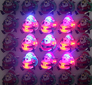 1PCS Santa Claus Flashing Brooch Christmas Decorations Badge
