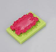 Недорогие -Прямоугольное зеркало силиконовый плесень помадка шоколадный торт украшения инструменты ручная работа мыло плесень цвет случайный