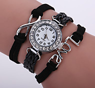 Women's Bracelet Watch Fashion Watch Wrist watch Quartz Colorful Imitation Diamond PU Band Sparkle Vintage Casual Bohemian Black White