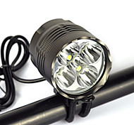 Headlamps Bike Lights Headlight LED 8000 lm 1 Mode Cree XM-L T6 Waterproof Suitable for Vehicles Anglehead Super Light