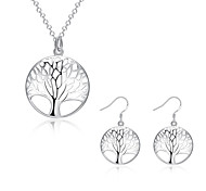 cheap -Women's Jewelry Set Necklace/Earrings Sterling Silver Silver Plated Fashion European Daily Casual Earrings Necklaces Costume Jewelry