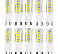 abordables -HKV 10pcs 4W 400-500 lm G9 Luces LED de Doble Pin T 51 leds SMD 2835 Impermeable Decorativa Blanco Cálido Blanco Fresco AC 220-240V