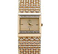 Женские Модные часы Наручные часы Часы-браслет Повседневные часы Стразы Имитация Алмазный Кварцевый Нержавеющая сталь ГруппаБлестящие