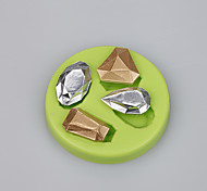 Недорогие -горячие продажи пользовательских драгоценных камней формы печенья силиконовые формы шоколада fondant торт инструменты ramdon цвет