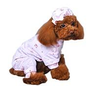 economico -Gatto Cane Tuta Pigiami Abbigliamento per cani Cartoni animati Giallo Blu Rosa Cotone Costume Per animali domestici Per uomo Per donna