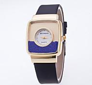 Mulheres Relógio de Moda Relógios Femininos com Cristais Relógio de Pulso Quartzo / PU Banda Casual Preta Branco Azul Vermelho Rosa Cáqui