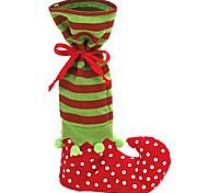 Недорогие -симпатичный Санта-Клаус ботинка эльфа обуви подтяжок задыхаться конфеты мешок подарка для рождественские украшения