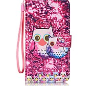 Owl Painted PU Leather Material of the Card Holder Phone Case Foramsung GalaxyA32016 A52016