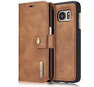 for Samsung Galaxy S8 Plus S8 Case Wallet Genuine Leather Cover Flip Card Holder Solid Color Two-in-One Cowhide Case S7 S7 Edge