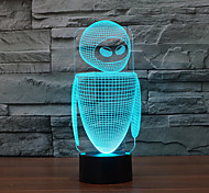 Недорогие -робот touch dimming 3d led night light 7colorful decor атмосферу лампа новинка освещение свет