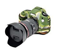 5DIII Korea Style Silicone Camera Case for Canon 5DIII 5D3 5DS 5DR DSLR Camera(Black/Green)