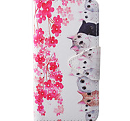 Cat Pattern PU Material New High-End Card Holder Phone Case For Samsung Galaxy S7 S7 Edge