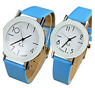 Недорогие -YAZOLE Для пары Кварцевый Наручные часы / Горячая распродажа PU Группа На каждый день Cool Черный Белый Синий Красный Коричневый Розовый