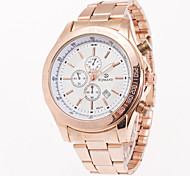 Men's Fashion Watch Wrist watch Calendar Quartz Stainless Steel Band Charm Casual Rose Gold