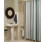 cheap -Shower Curtains Modern Polyester Stripe Machine Made
