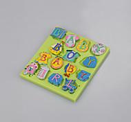 Reposteria fondant gâteau outil de décoration moule produits pour bébés forme de lettre couleur de qualité alimentaire aléatoire