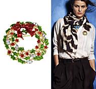 новый Рождественский подарок красочный горный хрусталь цветок броши