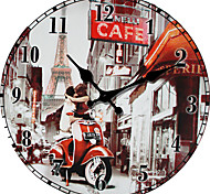 1PC European Roman Numerals Contracted When Fashion  Bicycle Combination Clock  (Pattern is Random)