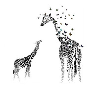 Недорогие -Животные Наклейки Простые наклейки Декоративные наклейки на стены, ПВХ Украшение дома Наклейка на стену Стена Стекло / ванной комнаты