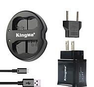 Kingma Dual USB зарядное устройство для батареи Никон и NIKON D7000 D7100 / 1х1 / D600 / D600E / d600 с USB-адаптер Вставьте вилку кабеля