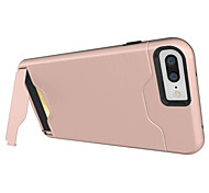 cheap -Case For Apple iPhone X iPhone 8 iPhone 6 iPhone 7 Plus iPhone 7 Card Holder Shockproof with Stand Back Cover Armor Hard PC for iPhone X