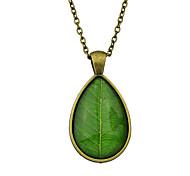 Недорогие -Жен. Очаровательный Ожерелья с подвесками Заявление ожерелья  -  Для вечеринки На каждый день Богемные Зеленый Синий Ожерелье Назначение