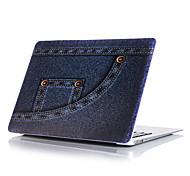 "Case for Macbook 13"" Macbook Air 11""/13"" Macbook Pro 13""/15"" MacBook Pro 13""/15"" with Retina display Cartoon Plastic Material Dark Blue Jeans Pattern"