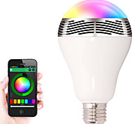 1 unids e27 control bluetooth altavoz de audio de música inteligente led lámparas de luz de bulbo de color rgb (ac85-265v)