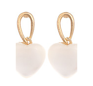 New Earings Fashion Jewelry Gold Plated Cute White Peach Heart Opal Drop Earrings For Women Vintage Earring brinco