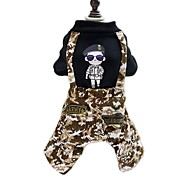 Dog Clothes/Jumpsuit Dog Clothes Winter Spring/Fall Camouflage Fashion Black