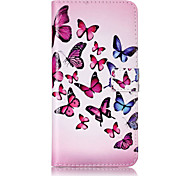 PU Leather Material Butterfly Pattern Painting Pattern  Phone Cases for iPhone 7 Plus/7/6s Plus / 6 Plus/6S/6/SE / 5s/5